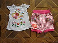 Детский летний костюм Пчелка для девочки 6-18 мес Турция