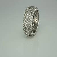 Женское серебряное кольцо многокаменка 3660