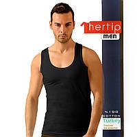 Майка мужская Hertip 541black турецкие футболки цена
