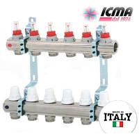Коллектор для теплого пола ICMA с расходомерами G 3/4 (на 6 контуров)