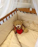 """Комплект постельного белья для новорожденного  микрофибра """" Бежевый"""""""