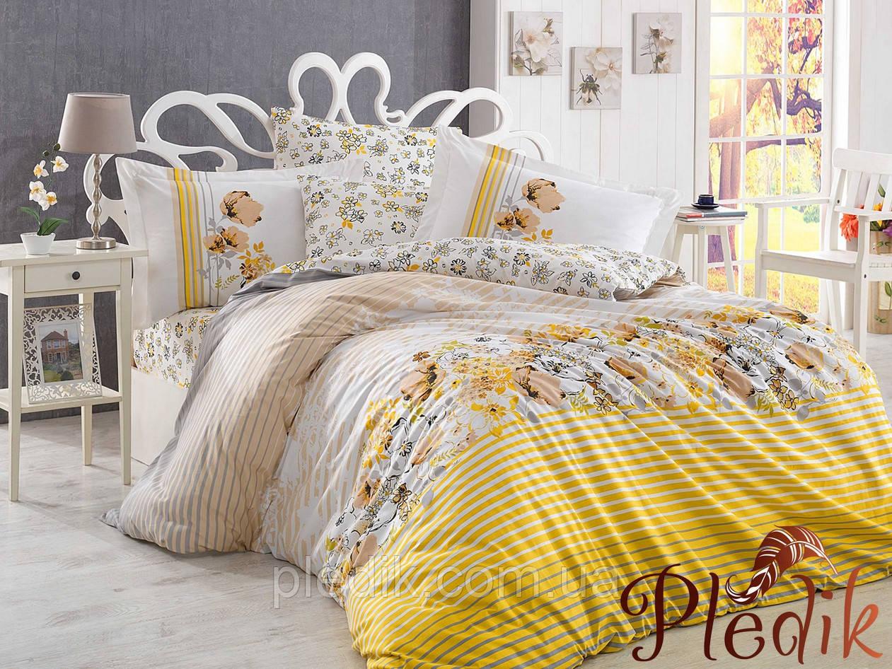 Комплект постельного белья 200х220 HOBBY Poplin Fiesta желтый