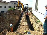 Сантехнические работы Строительство водопровода Услуги экскаваторов