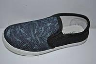 Мокасины кеды слипоны на мальчика р-ры 30 - 35, текстиль 1