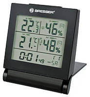 Термометр-гигрометр для путешествий MyTime Travel черный Bresser 923034.