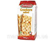 Крекеры салатные с солью Certossa Crackers Италия, 500 г.