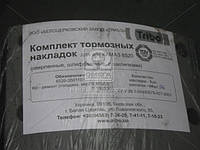 Накладки тормозная КАМАЗ ЕВРО сверленная комплект с заклепками (производитель Трибо) 6520-3501105