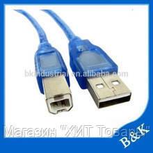 Соединительный кабель для принтера Ocean USB - USB B 3м!Хит, фото 3