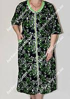 Легкий женский халат батального размера 9138
