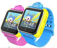 Детские умные часы Smart Watch Q200. (3G+GPS+камера 2.0 мП). На андроиде. Мониторинг сна. Игры.