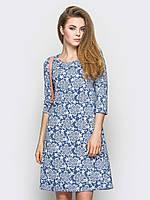 Платье с вставками из гипюра 90234