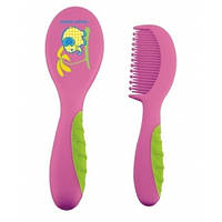 Щетка для волос с мягкой ручкой Canpol Babies 2/409 (Малиновая)