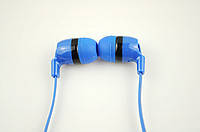 Наушники вакуумные M1 с микрофоном голубые