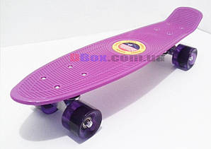 """Пенни борд Penny Cruiser 22"""" светящиеся  Фиолетовый (2T2021)"""
