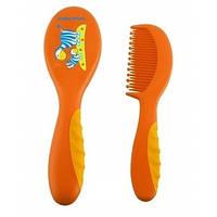 Щетка для волос с мягкой ручкой Canpol Babies 2/409 (Оранжевая)