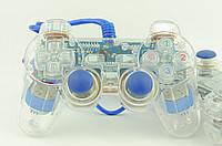 Джойстик PC проводной USB c подсветкой К800A двойной синий