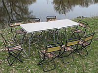 Двойной складной набор для пикника для большой компании ( 2 стола и 8 стульев)