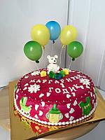 Детский торт из мастики Мишка