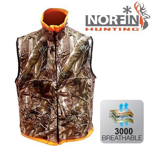 Безрукавка из флиса NORFIN Huntinh Reversable Vest Passion/Orange размер S