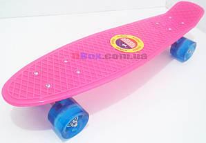 """Пенни борд Penny Cruiser 22"""" светящиеся  Розовый (2T2021)"""
