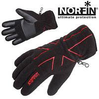 Перчатки флисовые с Thisulate  NORFIN BLACK  WOMEN размер L