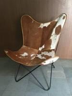 Кресло IRON LEATHER BUTTERFLY CHAIR 946. Кожа натуральная. Кресло в стиле Лофт.