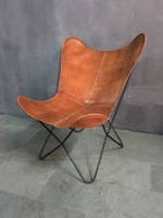 Кресло IRON LEATHER BUTTERFLY CHAIR 951. Кожа натуральная. Кресло в стиле Лофт.
