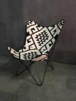 Кресло IRON JUTE BUTTERFLY CHAIR 956. Джут натуральный. Кресло в стиле Лофт.