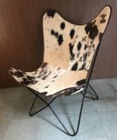 Кресло IRON LEATHER BUTTERFLY CHAIR 945. Кожа натуральная. Кресло в стиле Лофт.