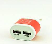 Адаптер на 2 USB YD-2U (цвета в ассортименте)