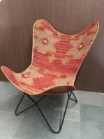 Кресло IRON JUTE BUTTERFLY CHAIR 964. Джут натуральный. Кресло в стиле Лофт.