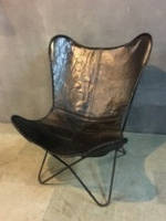 Кресло IRON LEATHER BUTTERFLY CHAIR 961. Кожа натуральная. Кресло в стиле Лофт.