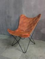 Кресло IRON LEATHER BUTTERFLY CHAIR 947L. Кожа натуральная. Кресло в стиле Лофт.