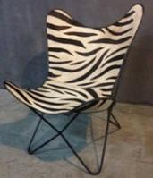 Кресло IRON JUTE BUTTERFLY CHAIR 940. Джут натуральный. Кресло в стиле Лофт.