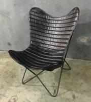 Кресло IRON LEATHER BUTTERFLY CHAIR 941B. Кожа натуральная. Кресло в стиле Лофт.