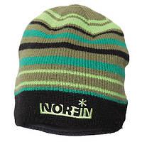 Шапка вязаная NORFIN (зелёная в полоску) размер XL