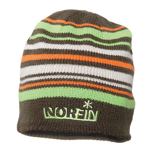 Шапка вязаная NORFIN (коричневая в полоску) размер L