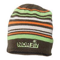 Шапка вязаная NORFIN (коричневая в полоску) размер XL