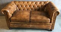 Кожаный диван WOODEN LEATHER SOFA Chesterfield Vintage 1157-2. Натуральная кожа и ценная порода дерева.