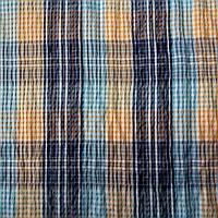 Коттон-жатка с сине-оранжевой клеткой
