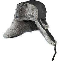 Шапка-ушанка на нат. меху (чёрная )  NORFIN размер L