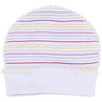 Лёгкая шапочка для новорожденных, на 56рост, Хлопок-Ажур 1858тро,В наличии 50_56_ Рост