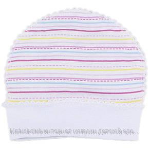 Одежда для недоношенных,шапка на 50рост, от 30-35 недель, Хлопок-Ажур 1858тро,В наличии _50_56 Рост, фото 2