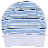 Лёгкая шапочка для новорожденных на 56рост, Хлопок-Ажур 1858тро,В наличии 50_56_ Рост