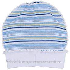 Одежда для недоношенных,шапка на 50рост, от 30-35 недель, Хлопок-Ажур 1858тро,В наличии _50_56 Рост, фото 3