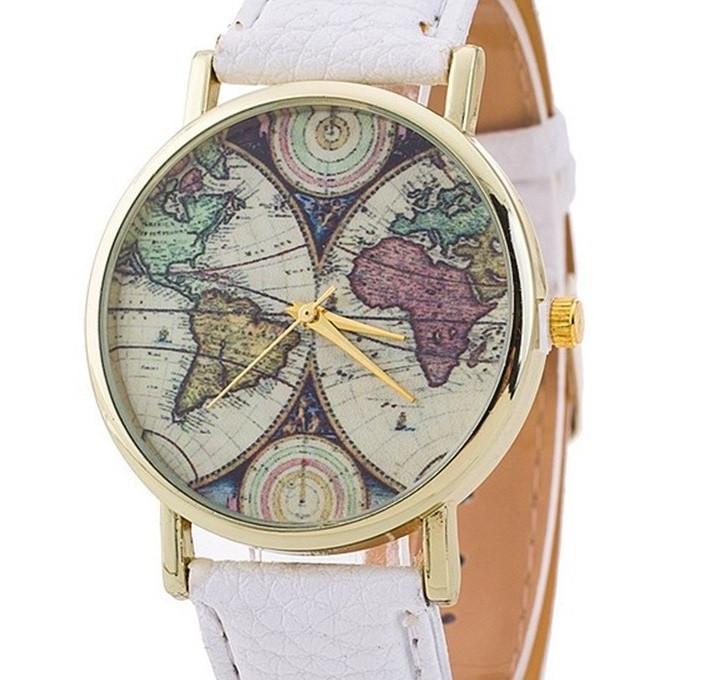 Часы Geneva Maps (white) - гарантия 6 месяцев