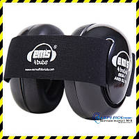 Наушники для детей Em's 4 Bubs (0-18 мес), black + выбор цвета  ленты.