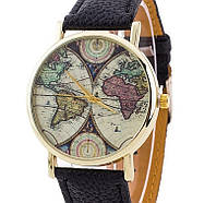 Часы Geneva Maps (black) - гарантия 6 месяцев
