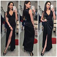 Платье вечернее из королевского атласа Расцветки : красный , чёрный, фото реал ,супер качество аиван№ 4205