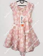 Нарядное детское платье с украшением 50382